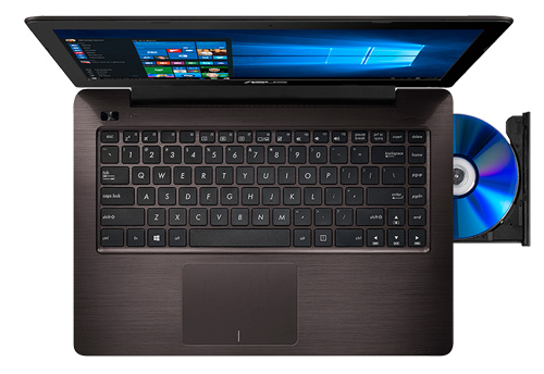 ASUS X456 X556 X756 Chocolate Brown Ergonomic keyboard design and Intuitive touchpad