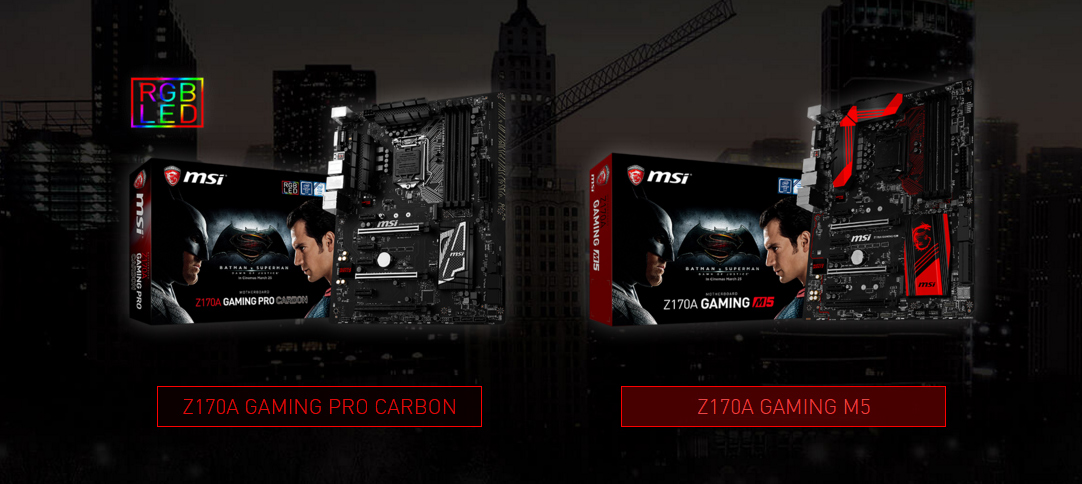 MSI special edition Batman v Superman MB 2