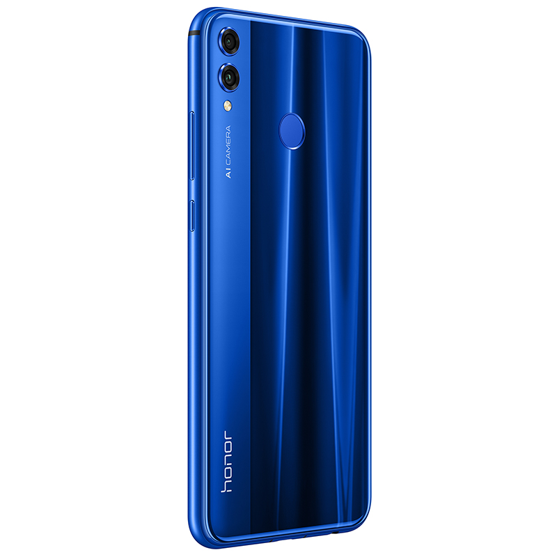 Honor 8X blue back right