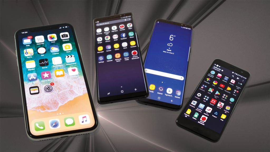 Apple iPhone X vs Samsung Galaxy Note 8 vs Galaxy S8+ vs HTC U11 - Mogućnosti i tehnologije