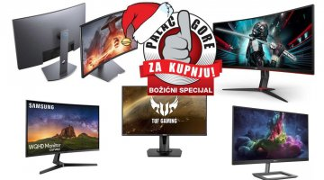 Božićni palac gore za kupnju: Top 5 monitora